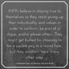 INFPs are described as being reserved, imaginative, passionate, creative, and quirky. These are some of the many qualities that make us unique. person 16 Quotes That Explain the Beautifully Quirky INFP Personality Type Infp Quotes, Typed Quotes, Psychology Quotes, Poem Quotes, Qoutes, True Quotes About Life, Life Quotes To Live By, Infj Infp, Introvert