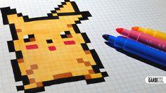 Handmade Pixel Art - How To Draw Pikachu #pixelart