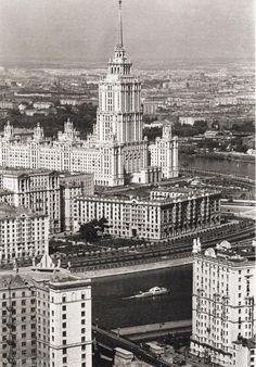 Фотография - Вид на гостиницу Украина - Фотографии старой Москвы