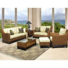 Boca Rattan 95004 Biscayne Coffee Table in Royal Oak with Glass Top 95004 by Boca Rattan. $638.00. There's nothing like the natural beauty of fine rattan furniture. Boca Rattan's well-crafted and beautifully designed rattan seating sets will add a unique touch to your living room, sun room, or family room. The rattan construction provides a lifetime of durability and strength and the plush cushions provide long lasting comfort. In addition, add some excitement...