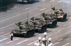 Tank Man, or the Unknown Rebel, is the nickname of an anonymous man who stood in front of a column of Chinese Type 59 tanks the morning after the Chinese military forcibly removed protestors from in and around Beijing's Tiananmen Square on June 5, 1989. The man achieved widespread international recognition due to the videotape and photographs taken of the incident. Despite his anonymity, he is commonly (though not necessarily correctly) referred to in Chinese as Wang Weilin (王維林), as dubbed b...
