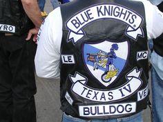 Biker Vest - Blue Knights MC Texas - Law Enforcement club