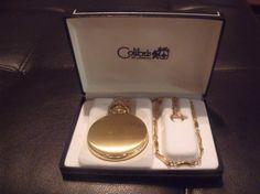 Vintage Colibri 17 Jewel Skeleton Goldtone Pocket by OdiesThings