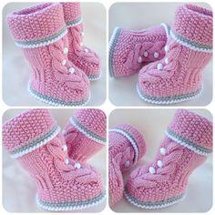 Razgovarajte s LiveInternet - ruske USLUGA online dnevnike Baby Booties Knitting Pattern, Baby Shoes Pattern, Knit Baby Booties, Crochet Baby Shoes, Shoe Pattern, Baby Boots, Baby Knitting Patterns, Baby Patterns, Crochet Hats