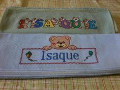 toalhas bordadas em ponto cruz