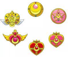 Evolution of Sailor Moons locket