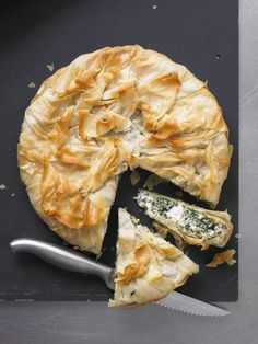 spinach + ricotta pie
