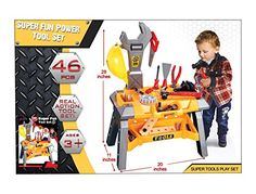 Ginzick Super Fun Kids Tool Set Workshop Playset *** Be sure to check out this awesome product.
