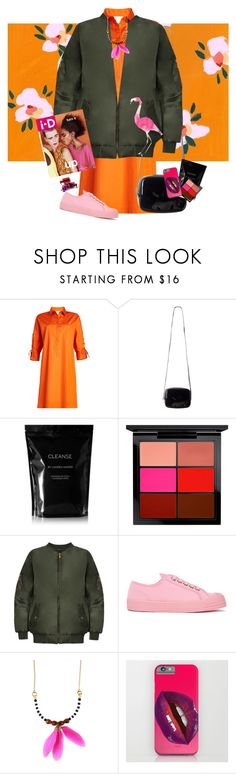 """""""18.0"""" by blackrose15orchiday ❤ liked on Polyvore featuring MaxMara, Monki, Cleanse by Lauren Napier, MAC Cosmetics, WearAll, Novesta and Feather and Skull"""