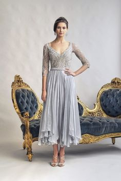 The Gill Harvey Collection is vintage inspired with beaded dresses and brings an alternative style for Mother of the Bride. We're not just Gill. Mother Of Groom Dresses, Bride Groom Dress, Groom Outfit, Dresses Uk, Trendy Dresses, Vintage Dresses, Beaded Dresses, Silver Bridesmaid Dresses, Silver Dress