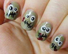 With our favourite spooky holiday, Halloween just around the corner, here's a bunch of trendy and scary Halloween Nail Art Ideas for you to try. Description from myfacehunter.com. I searched for this on bing.com/images