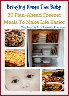 New Baby On The W save money on babies, #SaveMoney #Moneyay? 30 Meals For Your Freezer - The Todd and Erin Favorite Five