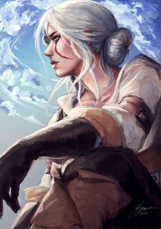 Another artwork of Ciri, hopefully you can see the improvement from the start of the year! Now to decide what to draw first for next year. End of the year: Ciri Witcher 3 Art, Ciri Witcher, The Witcher Game, The Witcher Books, Fantasy Warrior, Fantasy Girl, Otaku Anime, Anime Art, Geralt And Ciri