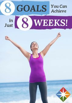 What diet and exercise goals can you accomplish in two months? More than you might think. Get healthy, feel stronger and boost your motivation by tackling these 8 very doable objectives in just 8 weeks!