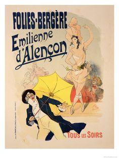 Émilienne d'Alençon  Folies-Bergère!  by Jules Cheret