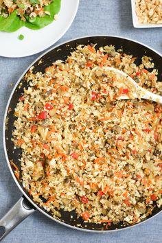 Cauliflower Rice Lettuce Wraps Recipe