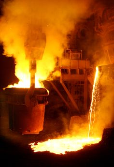 """My novel """"Hometown News"""" was originally going to be called """"Rust Belt."""" It takes place in a small industrial city with scenes like this. More mettle than one ladle can handle."""