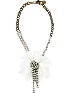 461fb4257842 Shop Lanvin floral necklace in Shuga Palace from the world s best  independent boutiques at farfetch.