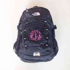e8fc38e5b2f7 monogrammed Northface backpack