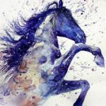 Watercolor Paint Horse Tattoo Idea