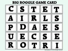 Download this Big Boggle Prefix/Root/Suffix Game Card to use in your literacy center. Big Boggle rules, a center display card and scoring instructions are included (Featured affixes: tract and less) Free, Direct Download - More available at http://www.teacherspayteachers.com/Product/Prefix-Root-and-Suffix-Review-Activity-Big-Boggle-823914