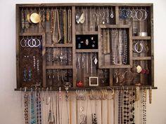 Inhaber Jewelry Organizer Ringwall hängende von barbwireandbarnwood