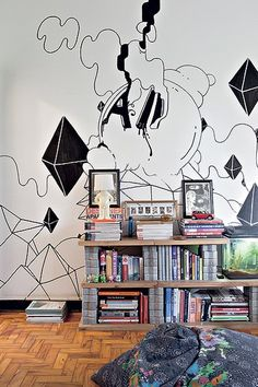 Check out that DIY shelving