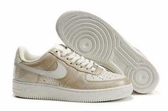 UK Market - Nike Air Force 1 Womens Lizard Silver White Grey Trainers