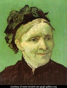 Vincent van Gogh (Portrait of the Artist's Mother) 1888. Oil on canvas.  Pasadena, Norton Simon Art Foundation.