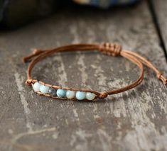 Trendy Bracelets, Simple Bracelets, Handmade Bracelets, Beaded Bracelets, Diy Jewelry Leather Bracelet, Bracelet En Cuir Diy, Bracelets Wrap En Cuir, Jewlery, Bohemian Style