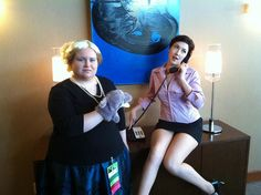 Pam and Cheryl - Show me on the dolphin... by Vienna La Rouge, via Flickr