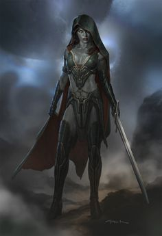 f Rogue Thief Leather Armor Cloak Sword mountains night Planes Traveler story Gamora - Guardians of the Galaxy Concept Art by Andy Park Gamora Comic, Marvel Concept Art, Marvel Art, Marvel Heroes, Marvel Comic Universe, Marvel Cinematic Universe, Marvel Characters, Fantasy Characters, Dark Fantasy