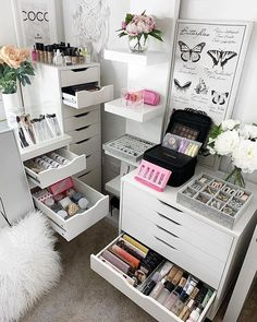 Australia's largest range of premium, modern makeup and jewellery storage solutions. Compatible with Ikea furniture. Rangement Makeup, Makeup Drawer Organization, Organization Ideas, Beauty Room Decor, Drawer Inserts, Make Up Storage, Bedroom Decor For Teen Girls, Vanity Design, Cute Room Decor