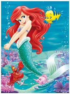 Diamond Embroidery: Ariel Mermaid with Flounder and Sebastian http://ali.pub/1n3gse Diy Diamond Painting Cross Stitch Pattern Mosaic Crystal Needlework 5D Square Girl Cartoon The Little Mermaid Disney Flounder Sebastian
