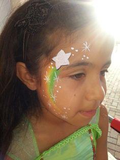 Shooting Star - Easy Face Painting Ideas - Simple Face Paint Idea #facepaint #facepainter #facepainting #easyfacepainting #easyfacepaintingideas #star #shootingstar #rainbow