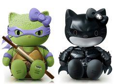 Hello Donatello (Ninjas turtles) and Hello Dark Knight Batman