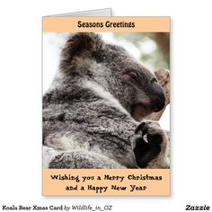 Wish a Merry Christmas to loved ones this holiday season with Christmas cards from Zazzle! Festive greeting cards, photo cards & more. New Year Card, Photo Cards, First Love, Christmas Cards, Wildlife, Bear, Animals, Christmas E Cards, Animales