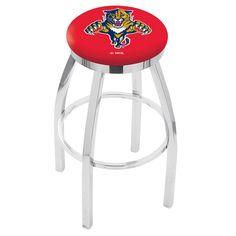 Florida Panthers Chrome Single Rung Swivel Barstool