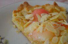 tarte au pêche amandes fromage