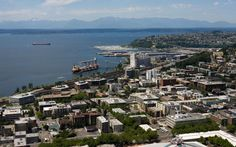 Space Needle in Seattle   Seattle's most recognizable landmark offers visitors the chance to see the city from 520 feet above ground. Can't make it to Washington? Check out the Space Needle's webcam for a continuous view of The Emerald City.
