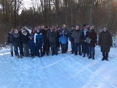 Die Teilnehmerinnen und Teilnehmer der Neujahresexkursion am 09.01.2016 in das Naturschutzgebiet Hakel