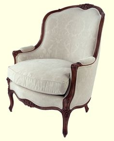 Auffrance Fine Furniture - Seating - Occasional Chairs -> Louis XV Oversized Bergere Chair