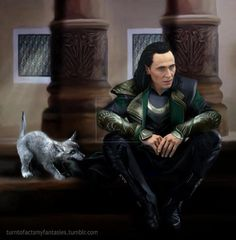 Problem child - #Loki and Fenrir by SybilRamkin