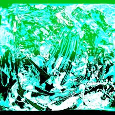 Arctic Ice Blue Green Black Limited Edition Prints Painting Art by AbbyEssie on Etsy