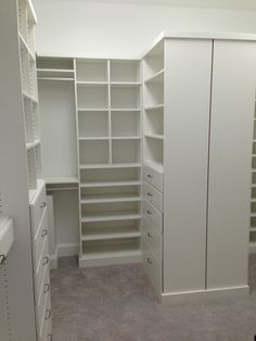 Closet Creations built this White Closet White Closet, Closet Designs, Closets, Design Ideas, Home Decor, Walk In Closet, White Cabinet, Armoires, Decoration Home