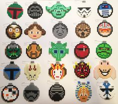 Star Wars Christmas ornaments perler beads by JaxMakesThings