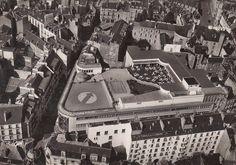 Vue aérienne du quartier Decré et de la terrasse de son magasin