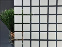Large White Square Decorative Window Film