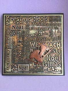 Kaart metallic look gemaakt met coosa producten Gilding Wax, Metallic Look, Emboss, Homemade Cards, Books, Noel, Christmas, Libros, Book