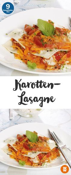Karottenlasagne | 2 Portionen, 9 SmartPoints/Portion,Weight Watchers, fertig in 60 min.